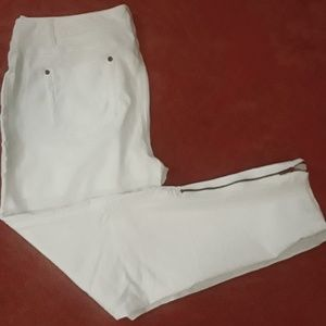 INC, White Pants With Zippers